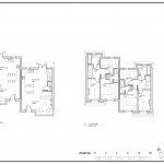 Hall - ground and first floor plans